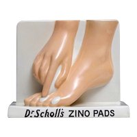 Royal Doulton Advertising Wares - Dr. Scholl's Zino Pads - Ceramic Store Display - 1936