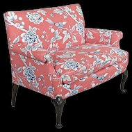 High Backed Sofa - Love Seat - Couch - Settee - Shell Carved Knees - New Upholstery - Down Cushion