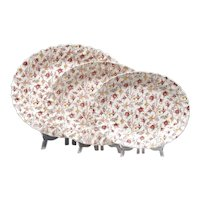 Copeland Spode Rosebud Chintz Platters - Three Large Platters - Turkey Platter - Copeland Spode - Mid 20h C