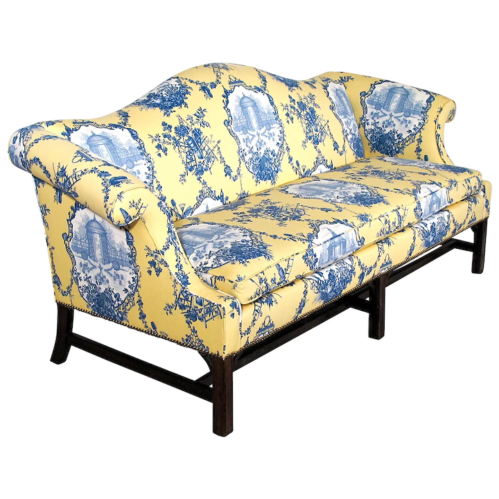 Wondrous Chippendale Style Camelback Sofa New Upholstery Down Wrap Cushion Couch Setee Inzonedesignstudio Interior Chair Design Inzonedesignstudiocom