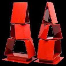 Pair of Industrial Steel Christmas Trees - Former Store Display Fixtures