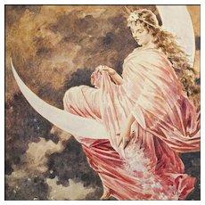 Lady Moon  - Original Painting after F. A. Kaulbach