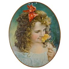 "Chromolithograph Advertising Portrait on Tin - ""Purity"" - Advertising - Chromolithograph - Americana"