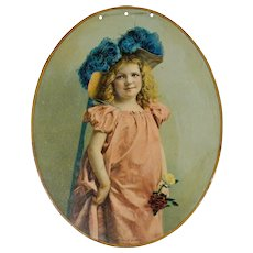 "Chromolithograph Advertising Portrait on Tin - ""A Lady of Quality"" - Advertising - Chromolithograph - Americana"