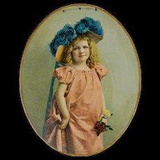 "Chromolithograph Advertising Portrait on Tin - ""A Lady of Quality"" - Advertising - Chromolithograph - Americana"