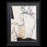 "Raffaele Ariante - Oil On Canvas - Seated Nude - ""Figura"""