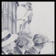 J Haussmann - Graphite and Charcoal Drawing - Illustration Art
