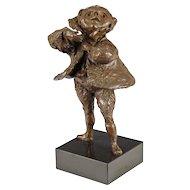 Bronze Sculpture of an Opera Singer - 20th C