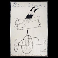 Ben Shahn - Kennedy Galleries - Headstand on a Tricycle - 1968