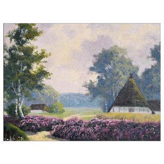 Dr. C Presént - Oil Painting of a Rural Landscape