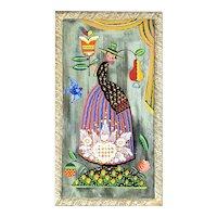Peter Hunt - American Folk Art Painted Mirror by Peter Hunt - Americana