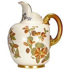 1885 Royal Worcester Pitcher - Jug - Large