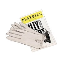 Leather Gloves - Off White Pigskin with Black Topstitching by Miss Aris