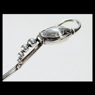 Rare Georg Jensen 'Blossom' Pierced Spoon - 1910 - 1925 - Sugar Sifter / Tea Caddy Spoon / Bon Bon Spoon - Sterling Silver