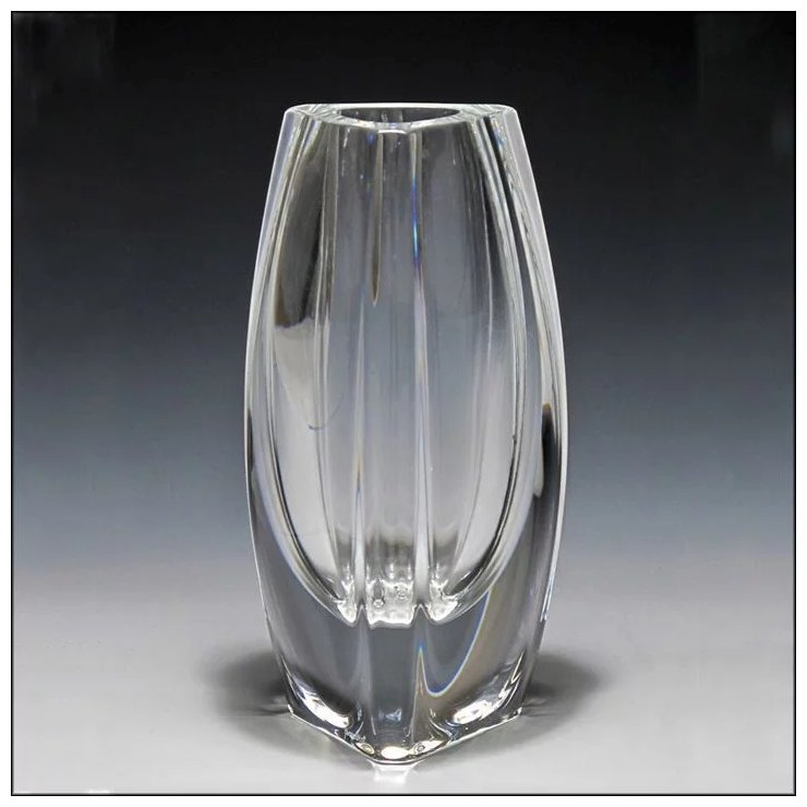 Signed Baccarat Crystal Bouton Dor Vase Oh Art And Antiques Llc