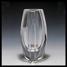 Signed Baccarat Crystal Bouton-D'or Vase