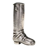 Sterling Equestrian Boot Vesta Match Safe - Silver Matchsafe