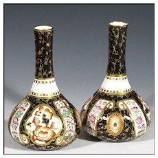 Pair of Antique Wedgwood Imari Cabinet Vases