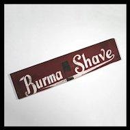 Burma Shave Sign - Folk Art Sign - Americana - Primitive - Advertising