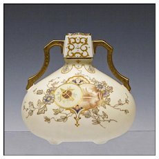 Antique English Porcelain Vase by Pointon & Co. - Hand Painted -19th C