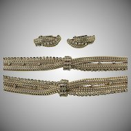 Hattie Carnegie Necklace, Bracelet and Earrings.  C. 1940.