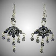 Chandelier  Iolite & Sterling Earrings.