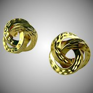 Love Knot 14k Gold Earrings.