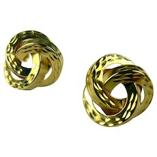 Love Knot 14k Gold Earrings.