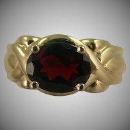 Rich Garnet Ring ~10k ~ Size 6.5.