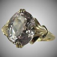 Pink Kunzite Ring - 14k Yellow Gold, Size 7.