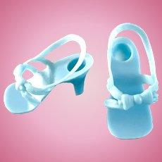 "Vintage 14-15"" Toni Sweet Sue Sophisticate BLUE Doll Shoes Miss Revlon Dollikin Cindy"