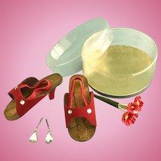 Vintage MIB Orig. Toni & Sweet Sue Sophisticate Doll Shoes w/ Jewelry Cissy too