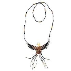 Apache Southwestern Beaded Eagle Necklace