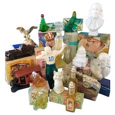 Vintage Avon NMIB Men's Women's Cologne Perfume Figural Bottles Lot Football