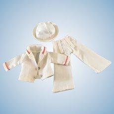 """Vintage 1950's 12"""" Shirley Temple Doll Clothes Captain January Sailor Uniform"""