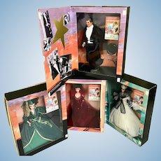 NRFB Mattel Barbie Ken Gone With the Wind Doll Lot Scarlett O'Hara Rhett Butler