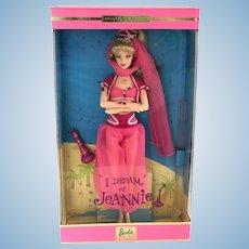 NRFB 2000 Mattel I Dream of Jeannie Barbara Eden Barbie Doll COA & Stand 29913