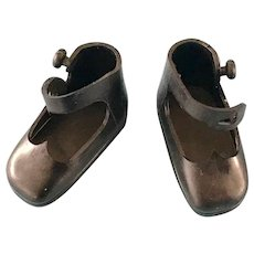 Vintage Original American Character Tiny Betsy McCall Black Doll Shoes