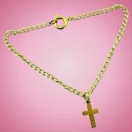 Vintage Doll Jewelry Necklace Cross Pendant Madame Alexander Cissy Elise Revlon