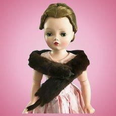 Vintage Mink Fur Stole Madame Alexander Cissy, Elise Doll Miss Revlon Toni