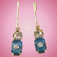 Vintage Doll Jewelry Rhinestone Earrings Madame Alexander Cissy Miss Revlon