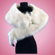 "Vintage Doll Genuine Fur Stole ""Ermine"" Madame Alexander Cissy Miss Revlon"
