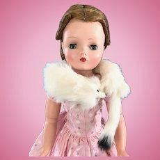 "Vintage Orig. Fur Stole ""Ermine"" Madame Alexander Cissy Doll Elise Miss Revlon"