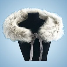 Vintage Gray Genuine Fur Stole Madame Alexander Cissy Doll Miss Revlon Toni