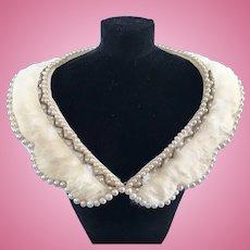 Vintage Genuine Fur Stole w/ Pearls Madame Alexander Cissy Doll Miss Revlon Toni