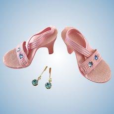 Vintage MIB Doll Shoes plus Jewelry fit Madame Alexander Cissy Miss Revlon Toni