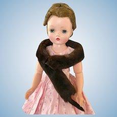 Vintage Fur Stole Genuine Mink Madame Alexander Cissy Doll Toni Miss Revlon