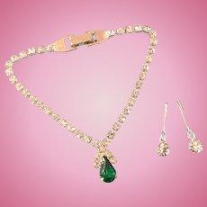 Vintage Rhinestone Doll Jewelry Necklace Earrings Madame Alexander Cissy Toni