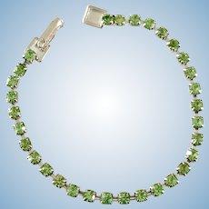 Vintage Green Rhinestone Doll Jewelry Necklace Madame Alexander Cissy Miss Revlon