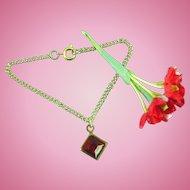 Vintage Doll Jewelry Necklace Ruby Rhinestone Madame Alexander Cissy Miss Revlon